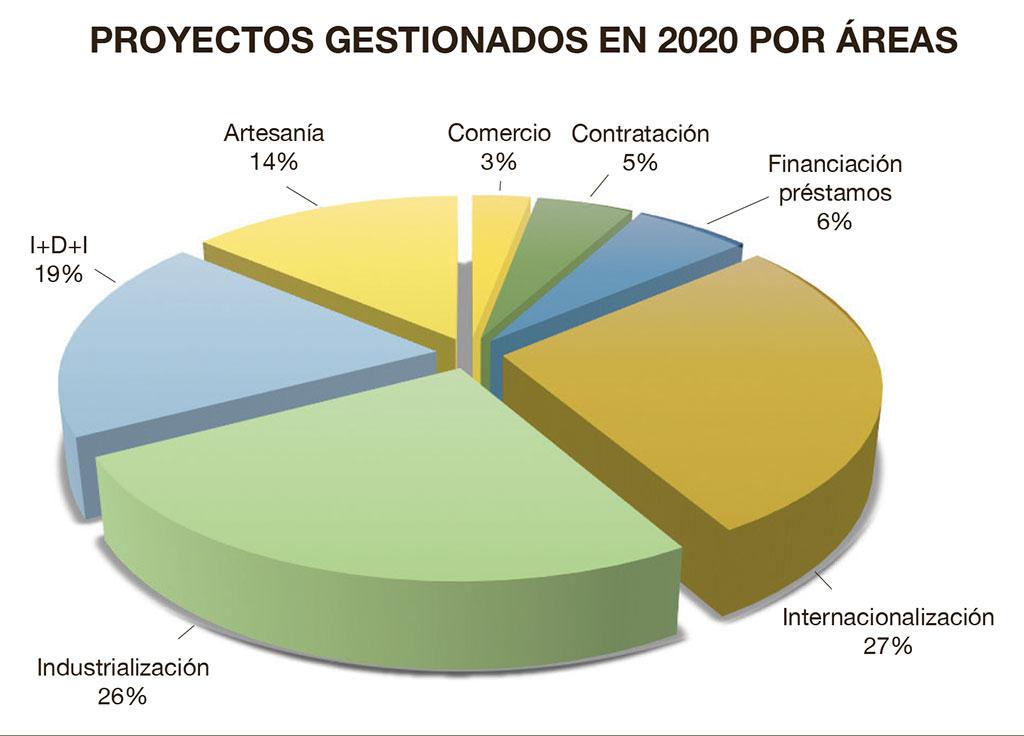 proyectos gestionados por Fevama en 2020